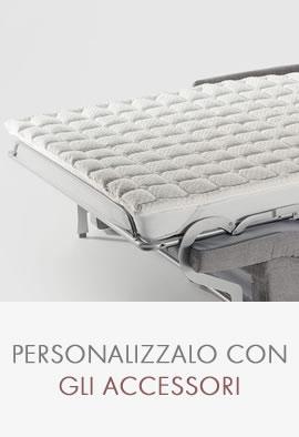 divani letto confort salotti - scelta accessori